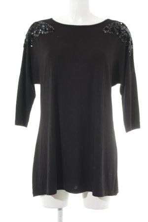 Thomas Rath Longshirt schwarz Ornamentenmuster Elegant