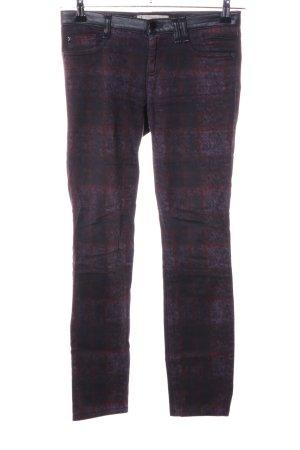 Thomas Rath Pantalone a sigaretta rosso-lilla motivo astratto stile casual
