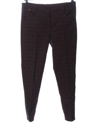 Thomas Rath Pantalone jersey marrone-nero stampa integrale stile casual