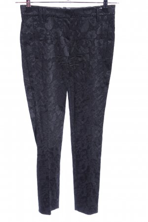 Thomas Rath Stretchhose schwarz Blumenmuster Business-Look