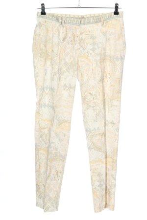 Thomas Rath Pantalone elasticizzato grigio chiaro-crema motivo grafico