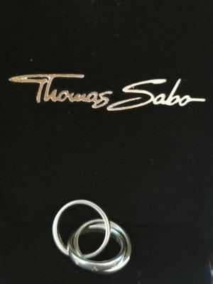 Thomas Sabo Anello d'argento grigio chiaro