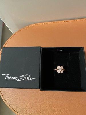 Thomas Sabo Anillo de plata color rosa dorado-rosa claro