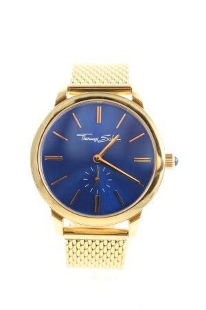 Thomas Sabo Analoguhr goldfarben-blau Business-Look