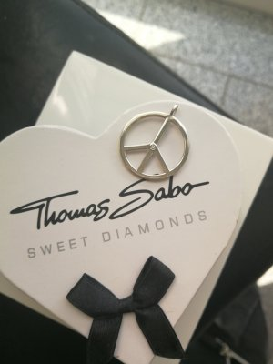 Thomas Sabo Collana bianco-argento Argento