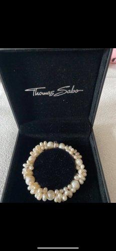 Thomas Sabo Bracelet en perles crème-argenté