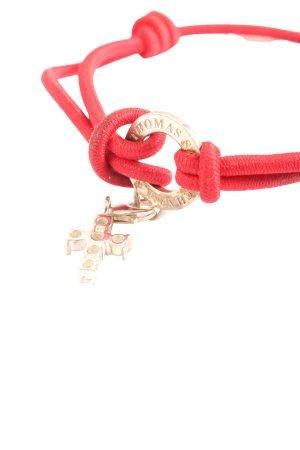 Thomas Sabo Bracelet rouge-doré style décontracté