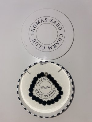 Thomas Sabo Pulsera negro-color plata
