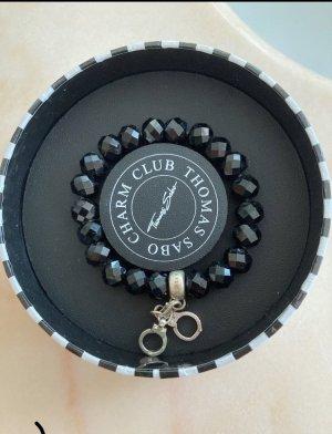 Thomas Sabo Bracelet à breloques argenté-noir