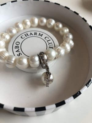 Thomas Sabo Pearl Bracelet oatmeal-silver-colored