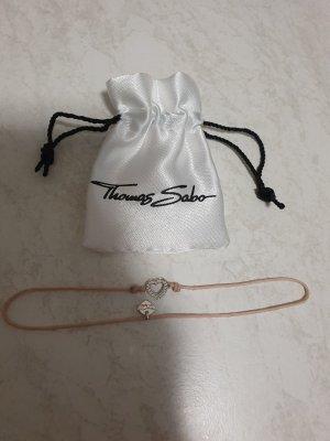Thomas Sabo Armband mit Herz rosa Steine 925er Silber