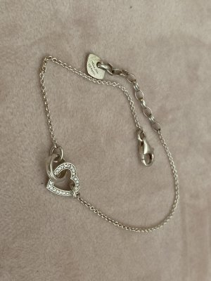 Thomas Sabo Zilveren armband zilver-wit