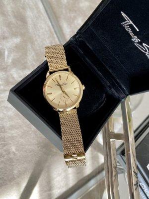 Thomas Sabo Montre avec bracelet métallique doré
