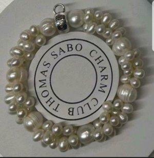 Thomas Sabo Armband met parels zilver-wolwit