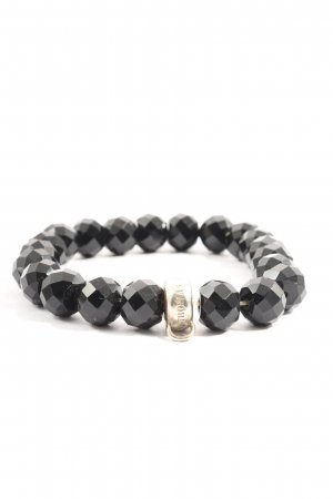 Thomas Sabo Charm Bracelet black-silver-colored casual look