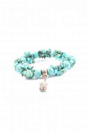 Thomas Sabo Charm Bracelet turquoise-natural white abstract pattern casual look