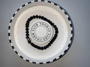 Thomas Sabo Bracciale charm nero-argento