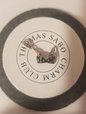 Thomas Sabo Dije negro-color plata