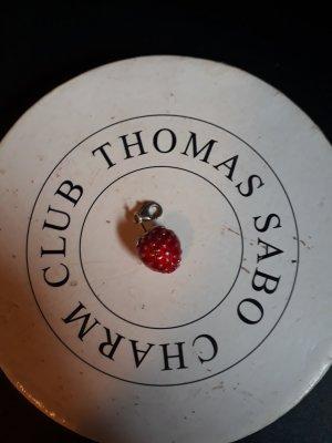 Thomas Sabo Dije color plata-rojo oscuro
