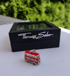 Thomas Sabo Charm silver-colored-red mixture fibre