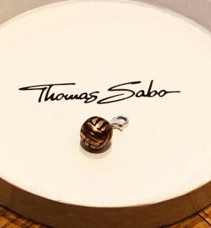 Thomas Sabo Breloque orange foncé-argenté