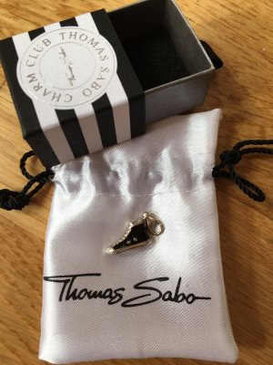 Thomas Sabo Dije negro-color plata