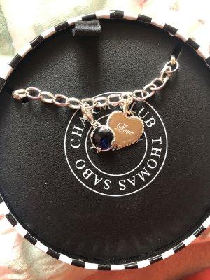 Thomas Sabo Zilveren armband zilver-donkerblauw