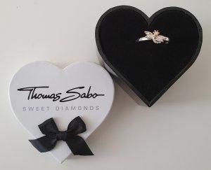 THOMAS SABO Damen Ring Libelle 925 Silber 0,014 Karat Diamant Gr.54
