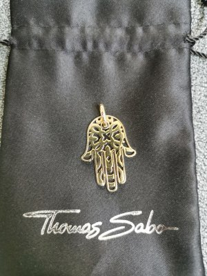 Thomas Sabo Pendentif jaune foncé argent
