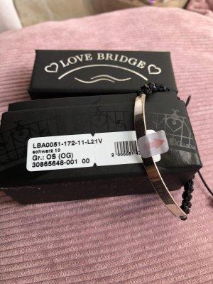 Thomas Sabo Braccialetto in argento nero-argento