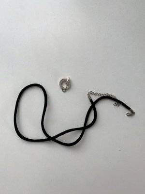 Thomas Sabo Collana nero-argento Argento
