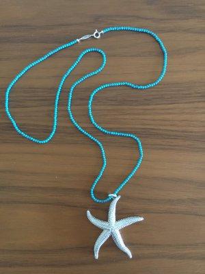 Thomas Sabo Collar azul aciano-gris claro
