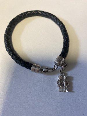 Thomas Sabo Bracelet en cuir noir-argenté