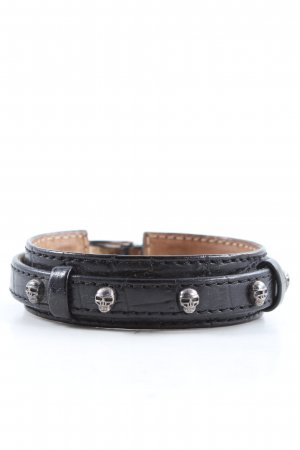 Thomas Sabo Leather Bracelet black casual look