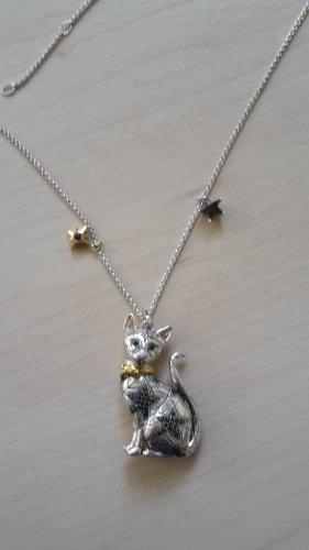 Thomas Sabo Collar estilo collier color plata-negro tejido mezclado