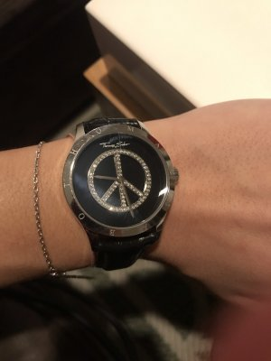 Thomas Sabo Watch With Leather Strap black