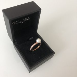 Thomas Sabo Anello d'argento color oro rosa