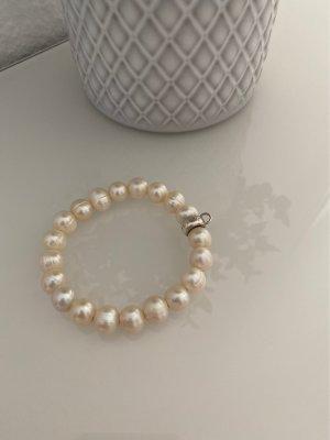 Thomas Sabo Bransoletki z perłami kremowy-srebrny