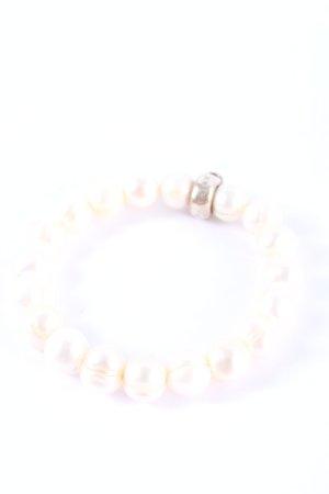 Thomas Sabo Bracelet en perles blanc-argenté élégant