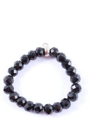 Thomas Sabo Bracelet en perles noir élégant