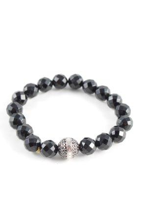 Thomas Sabo Bracciale di perle nero elegante