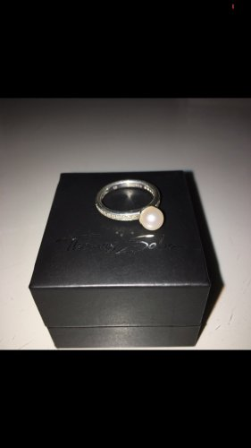 Thomas Sabo Zilveren ring zilver-wit