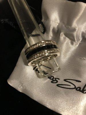 Thomas Sabo Bague en argent noir-blanc