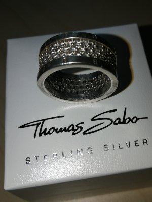Thomas Sabo Ring Eternity 54, dreireihig Zirkomia pavé