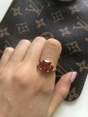 Thomas sabo Ring Gold orange pink