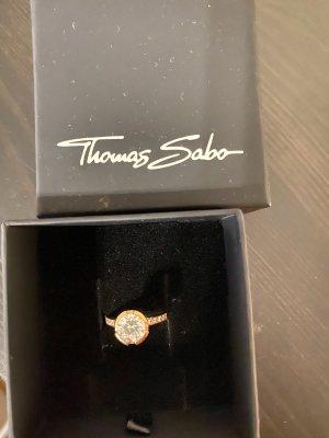 Thomas Sabo Bague en argent or rose