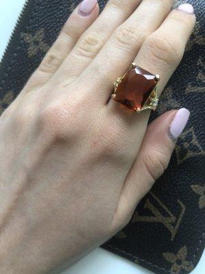 Thomas Sabo Ring Magic Stones Orange Gold