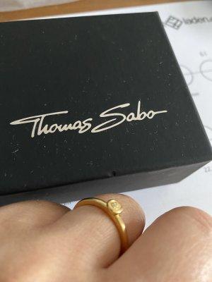 Thomas Sabo Bague en argent blanc-doré