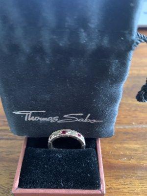Thomas Sabo Gouden ring roségoud-donkerrood Metaal