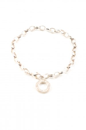 Thomas Sabo Brazalete de plata color plata look casual